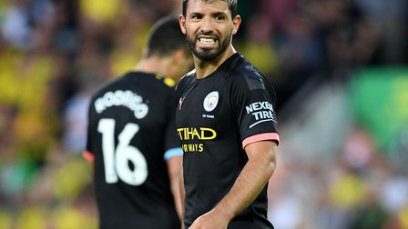 Sergio Aguero was left frustrated Picture: PA