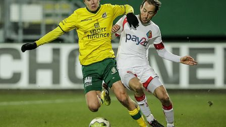 Todd Cantwell during a successful loan stint at Fortuna Sittard Picture: Ivo Delahaye