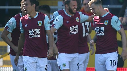 Burnley enjoyed their early ascendancy, after Chris Wood had fired them 2-0 ahead Picture: Paul Ches