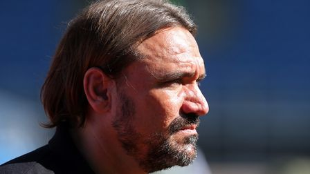 Norwich City head coach Daniel Farke watches on as Norwich succumb to a 2-0 defeat to Burnley in the