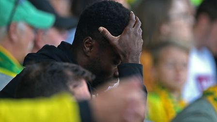 Alex Tettey's face tells the story of Norwich's defeat against Burnley. Picture: Paul Chesterton/Foc