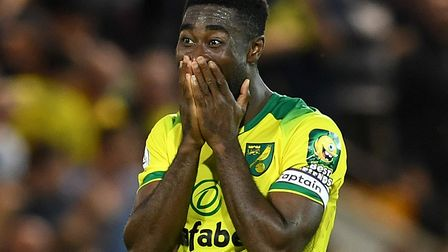 The face says it all - Alex Tettey savours Norwich City's victory over the champions Picture: Joe Gi