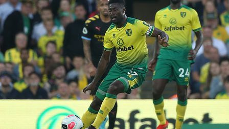 Alex Tettey in midfield action against Manchester City Picture: Paul Chesterton/Focus Images