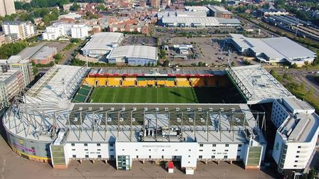 Carrow Road has been shown from all angles in new footage filmed using a drone Picture: Gareth Eagle