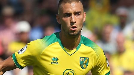 Moritz Leitner is on the beench for Norwich City at Burnley after missing a game with a calf injury