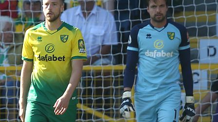 Norwich City slipped to a third consecutive Premier League away defeat at Burnley Picture: Paul Ches