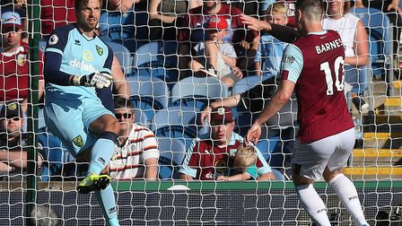 Norwich City keeper Tim Krul had to play through the pain barrier Turf Moor Picture: Paul Chesterton
