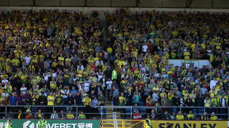 The travelling Norwich fans packed the away end at Burnley Picture: Paul Chesterton/Focus Images Ltd