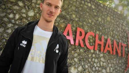 Norwich City defender Christoph Zimmermann on his visit to the Archant hq Picture: Jamie Honeywood/A