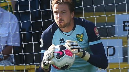 Norwich City keeper Tim Krul suffered a back problem in the warm up at Burnley Picture: Paul Chester
