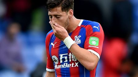 Crystal Palace's Joel Ward was at fault for a 95th equaliser for 10-man Wolves in the Premier League