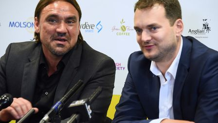 Stuart Webber and Daniel Farke back in May 2017, when Farke had been appointed head coach of the Can