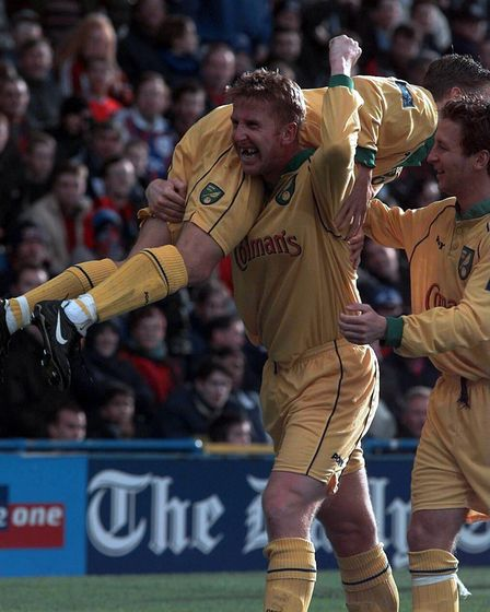 Iwan Roberts - back in October 1998 - scored a consolation for City at Selhurst Park Picture: Archan