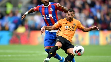 Jordan Ayew, left, is Palace's top scorer with two goals so far this season Picture: Daniel Hambury/