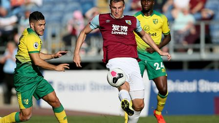 Chris Wood's brace did the damage required for Burnley against the Canaries Picture: Richard Sellers