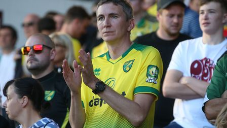 There were 2,300 Canaries fans at Burnley