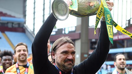 Daniel Farke takes charge of his 100th league game for Norwich City against Aston Villa Picture: Pau
