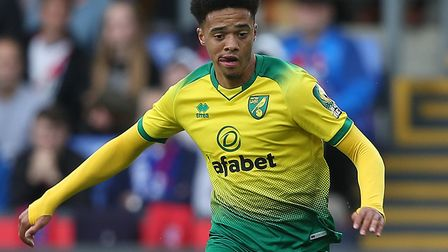 Norwich City left back Jamal Lewis needed scans on an elbow injury suffered at Crystal Palace Pictur