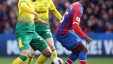 Josip Drmic in action during Norwich City's 2-0 defeat to Crystal Palace. Picture: Paul Chesterton/F