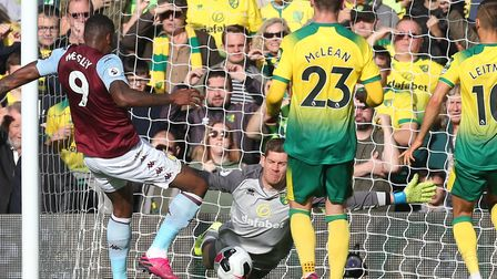 Michael McGovern saved a penalty in the first half but Norwich City were still beaten 5-1 by Aston V