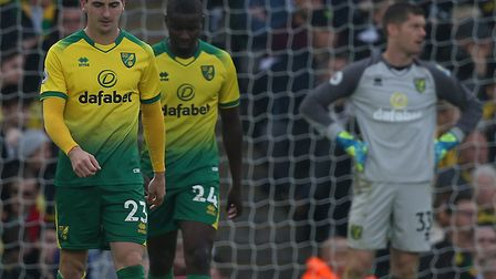 Norwich City were hammered 5-1 at home to Aston Villa in the Premier League Picture: Paul Chesterton