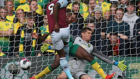 Michael McGovern dnied Wesley from the penalty spot but Norwich City were well beaten by Aston Villa