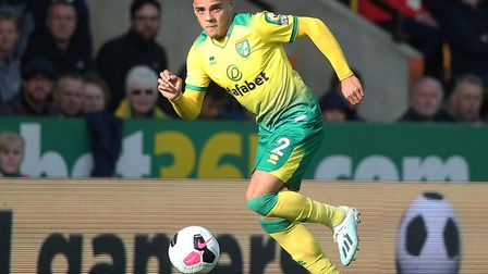 Right-back Max Aarons in action during Norwich City's 5-1 defeat to Aston Villa at Carrow Road Pictu