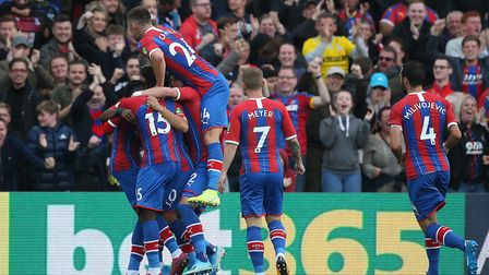 Andros Townsend secured the three points as he converted the second for Crystal Palace. Picture: Pau