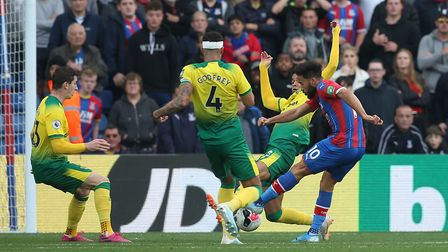 Andros Townsend provided Palace with an extra dimension when he came on in the second half. Picture: