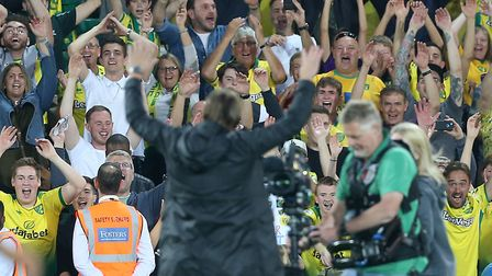 Daniel Farke is urging Norwich City fans to back his boys at Carrow Road againt Aston Villa Picture: