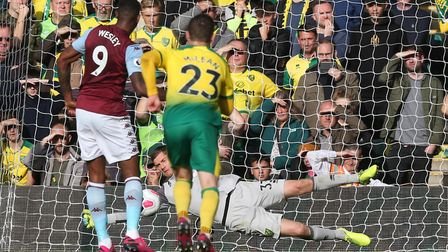 Michael McGovern did prevent Wesley getting his hattrick but Villa still beat the Canaries comfortab