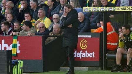 Daniel Farke's 100th game at the helm of the club wasn't a happy one. Picture: Paul Chesterton/Focus