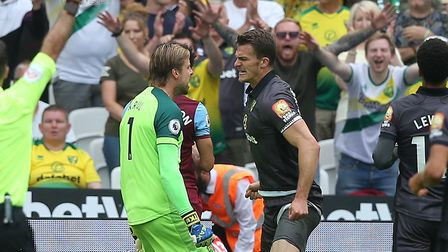 Christoph Zimmermann made a heroic block at West Ham, during his one league appearance of the league