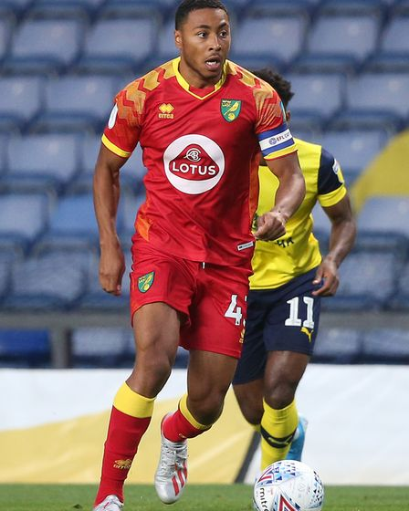 Canaries defender Akin Famewo in EFL Trophy action at Oxford earlier this season Picture: Paul Chest