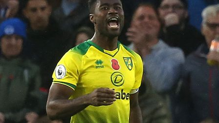 Norwich City captain Alex Tettey was pressed into action at centre back against Brighton Picture: Pa
