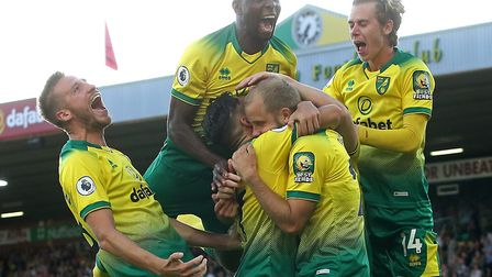 The goal-scoring form of Norwich City striker Teemu Pukki, second from right, has caught the attenti