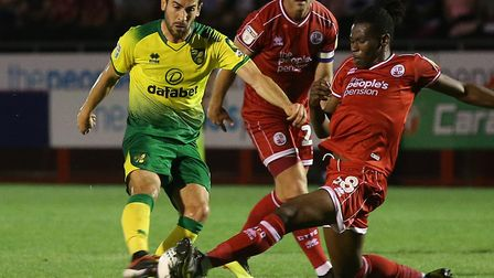A calf injury has kept Mario Vrancic out of Norwich City action for most of the season so far Pictur