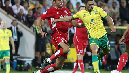 Gary O'Neil, left, was on the losing side at Carrow Road in August 2016, when Bristol City were beat