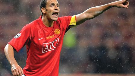Rio Ferdinand during his Manchester United days Picture: Owen Humphreys/PA Wire