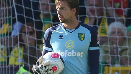 Norwich City number one Tim Krul is expected to return from injury at Bournemouth this afternoon Pic