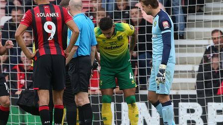 Ben Godfrey was forced to depart early in the second half of Norwich City's 0-0 Premier League draw