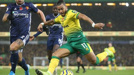 Onel Hernandez caused Watford plenty of problems at Carrow Road but couldn't force the breakthrough