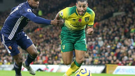 Onel Hernandez couldn't force a breakthrough for Norwich City during Friday's home defeat to Watford