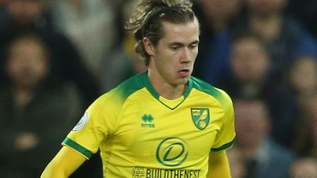 Todd Cantwell of Norwich in action during the Premier League match at Carrow Road, Norwich Picture: