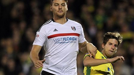 Chris Martin playing against Norwich City for Fulham. Picture: Paul Chesterton/Focus Images Ltd