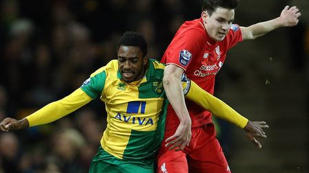 Reece Hall-Johnson in FA Youth Cup action for Norwich City. Photo: Jason Dawson