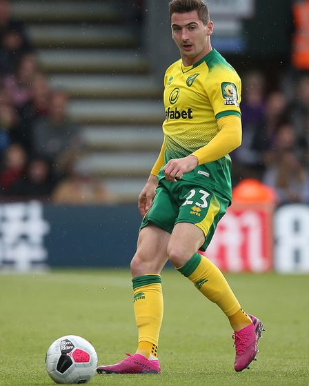 Kenny McLean of Norwich in action during the Premier League match at the Vitality Stadium, Bournemou