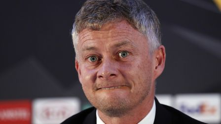 Manchester United's manager Ole Gunnar Solskjaer speaks during a press conference at the Partizan st