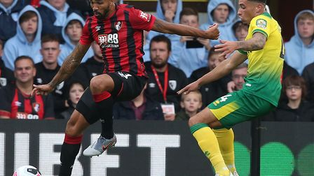 Godfrey kept England striker Callum Wilson on a short leash as Norwich drew at Bournemouth Picture: