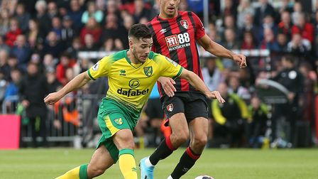 Emi Buendia in action at Bournemouth, where City picked up a morale-boosting point on the road Pictu